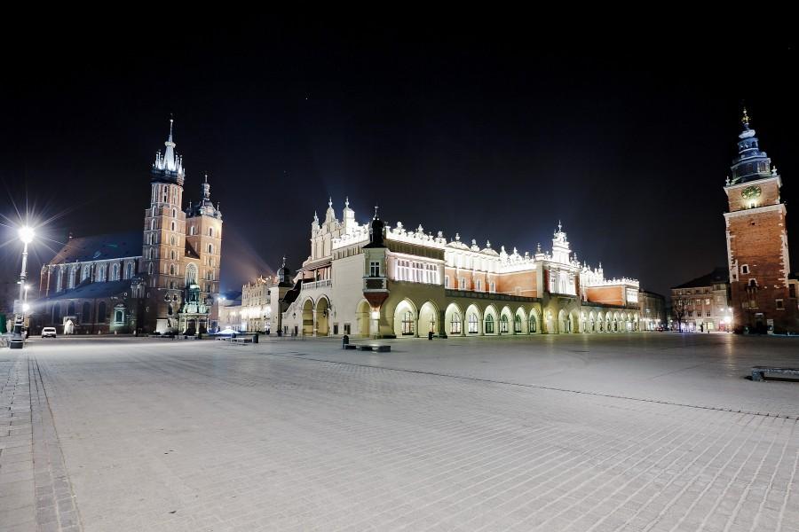 Rynek Główny, Sukiennice, Bazylika Mariacka, Ratusz