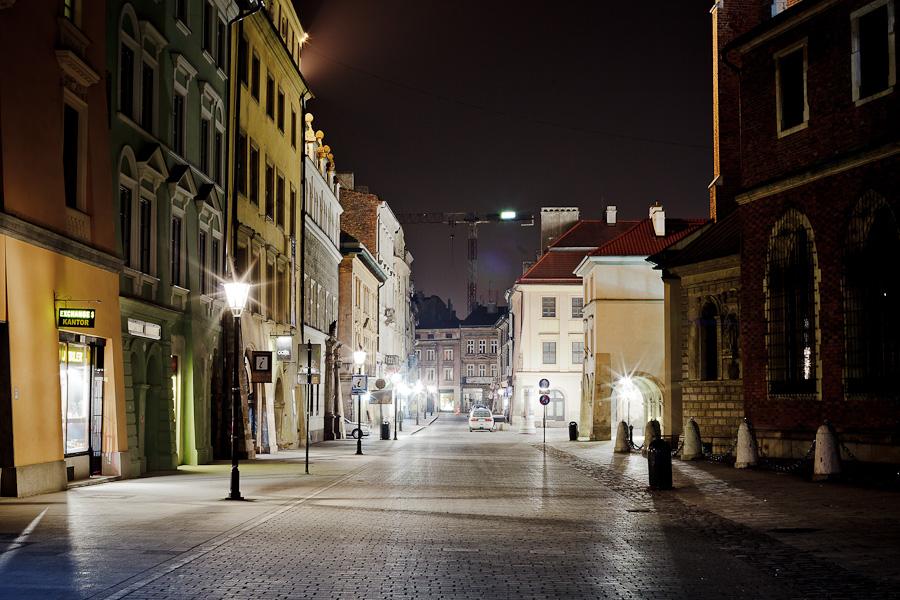 Plac Mariacki, Bazylika Mariacka, ulica Mikołajska, Mały Rynek